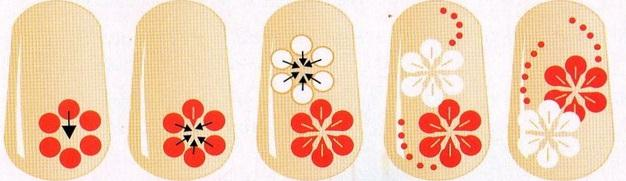 фото рисунки на ногтях иголкой
